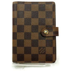 💯 Auth Louis Vuitton Diary Cover Agenda PM Damier